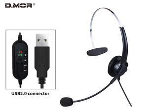 Built-in microphone for iPhone, smartphone, computer, TV. Headset has a head-worn shape and carries a microphone to support intercom calls. Compatible with Mac OS X, plug and play M