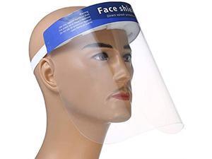 1 Pcs Anti-fog Full Safety Face Shield, Universal Reusable Face Protective Visor for Eye Head Protection, Anti-Spitting Splash Facial Cover for Women, Men