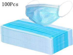 100Pcs 3-Ply Disposable Elastic Earloop Soft Breathable Face Mouth Masks Personal Protection Care