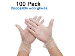 Disposable Vinyl Gloves Disposable work gloves professional gloves 100pcs / box, Size:L