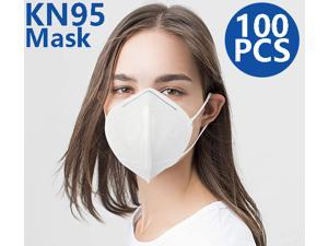 KN95 Mask, Non-Disposable Protective Mask Surgical Face Mask Anti Flu Mask, Breathable, Dustproof, Nonwoven Fabrics, 5 Layers Protective Mask - 100 Pcs