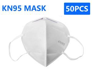 50 Pcs N95 Mask, pm2.5 5-Layer KN95 Mask Face Mask Adult Anti-fog Haze Dustproof Non-Woven Fabrics Mask