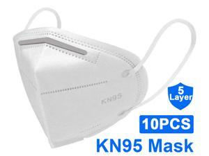 KN95 Mask, 5-layer Disposable Face Mask Anti Covid-19 Virus, Oral And Nasal Hygiene, Breathable, Dustproof, Nonwoven Fabrics, Work Masks (10 pcs)