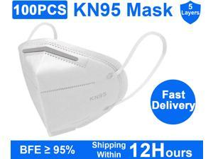 KN95 Mask 100pcs Anti-Fog Dust Mask PM2.5 Face Masks Anti Covid-19 Virus Surgical Face Mask - 5 Layers Healthy Protective Face Mask Work Masks