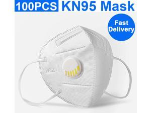 100pcs KN95 Mask with Self-priming Filter - Anti-Fog FFP2 Dust Face Mask PM2.5 Face Masks - Air Filter Dust Proof Healthy Protective Respirator Work Mask