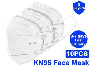KN95 Mask, 5-layer Non-Disposable Face Mask, Anti COVID-19 Virus, Oral And Nasal Hygiene, Breathable, Dustproof, Nonwoven Fabrics, Work Mask(10 pcs)