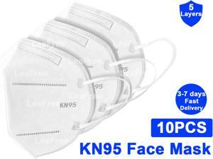KN95 Mask, 5-layer  Face Mask, Anti COVID-19 Virus, Oral And Nasal Hygiene Protection, Breathable, Dustproof, Non-woven Fabrics, PM2.5, Work Mask(10 pcs)