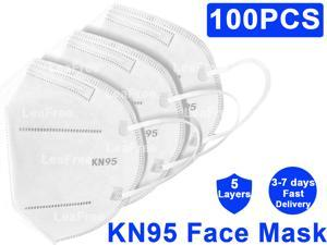 KN95 Mask, KN95 Face Mask, 100pcs 5 layer Anti Pollution Earloop Face Mask for Personal Protective Respirator Reusable, Non-Disposable Mask Easy to Wear Work Face Mask