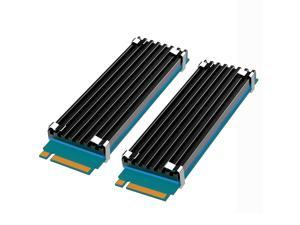 [2 pcs] GLOTRENDS M.2 Heatsink Kits fit for PS5/PC, 0.14inch(3mm) Thick M.2 Cooling Fin for 2280 M.2 PCIe SSD