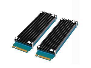 [2 pcs] GLOTRENDS M.2 Heatsinks for 22x80 M.2 PCIE NVMe SSD, 22x70x3 Aluminum Body