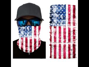 (US stock) Summar Bandana Tube Scarf Men Face Headwear Neck Warmer Dust and UV Protection American Flag