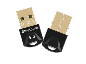 Bluetooth 5.0 USB Adapter, Costech Gold Plated Micro Dongle 65.6ft/20m Compatible with Windows 10,8.1/8/7, 32/64 Bit for Desktop, Laptop, Headsets, Printers