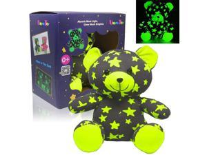UnyeeToy Star Bear Glow-in-The-Dark Luminous Stuffed Animal Toy Gift - Batteries Not Required, Sister