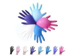 100pcs Nitrile Home Gloves, Disposable, Latex-free For Food Handling Random Color