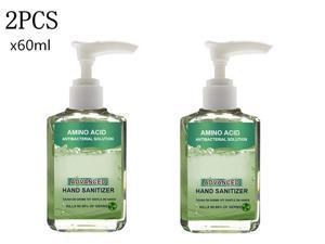 2Pcs Portable 60ml No-wash Quick-drying Press Hand Sanitizer Soothing Gel Alcohol-free Anti-Bacteria Hand Sanitizer Gel