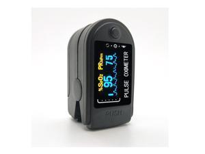 Black Finger Clip Pulse Oximeter LED Household Digital Blood Oximeter Glucose Meter for Check Pulse, Oxygen Saturation Concentration, Blood Circulation