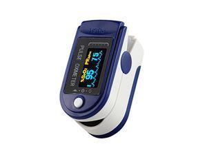 Finger Clip Pulse Oximeter LED Household Digital Blood Oximeter Glucose Meter for Check Pulse, Oxygen Saturation Concentration, Blood Circulation ,Blue&White
