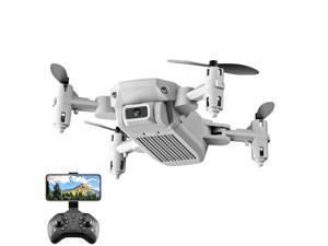 LS-MIN Mini Drone 4K HD Camera WiFi Fpv Air Pressure Altitude Hold Gray Foldable Quadcopter RC Drone Toy