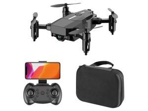 F86 FPV Mini Drone Professional HD 500 Million Pixels Cameras Wifi Foldable Drones With Camera High Hold Mode RC Quadcopters Drone Gifts ,Black