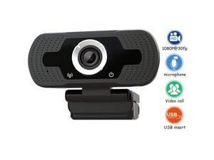 1080P USB Computer Webcam Conference Video Online Class Live Teaching Camera Full HD Webcam with Microphone for Computer / Laptop and Desktop