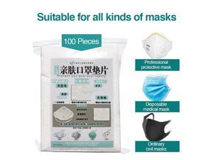 100pcs disposable face masks replacement filter pad breathable face mask gasket