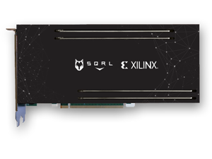 BCU-1525 SQRL XYLINX VU9P FPGA   WITH MODS AND 16GB RAM