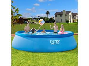 Inflatable Swimming Pool Center Lounge Large Family Kids Water Play Fun Backyard Inflatable Paddling Pools Family Kids Swimming Pool Outdoor Garden Summer Holiday-366X76CM