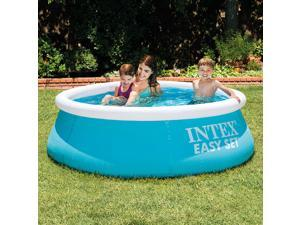 Inflatable swimming pool Intex Large Family Swimming Pool Inflatable Adult Pool Heightening Thickened Children's Play Pool Folding Fish Pool 183x51cm
