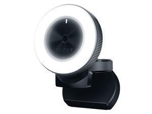 Razer Kiyo 1080P Desktop Streaming Camera Webcam with Multi-step Ring Light Lamp for Tik Tok Live Streaming Black Color