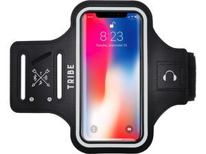 Water Resistant Cell Phone Armband Case for iPhone 11, 11 Pro, 11 Pro Max, X, Xs, Xs Max, Xr, 8, 7, 6, Plus Sizes, Galaxy S10, S9, S8, S7, Plus Sizes and More. Adjustable Elastic Band & Key Slot