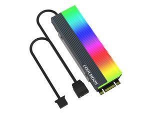 M2 SSD Heatsink 5V 3Pin ARGB NVME NGFF M.2 2280 Solid State Drive Hard Disk Cooling Radiator Cooler Vest Thermal Pad