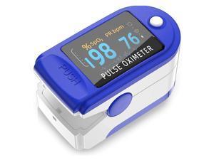 Pulse Oximeter Fingertip, Blood Oxygen Saturation Monitor Fingertip, Portable Blood Oxygen Meter Finger Oximeter Finger with Pulse, O2 Monitor Finger for Oxygen