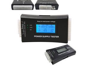 Digital LCD Display PC Computer 20/24 Pin Power Supply Tester Check Quick Bank Supply Power Measuring Diagnostic Tester Tools