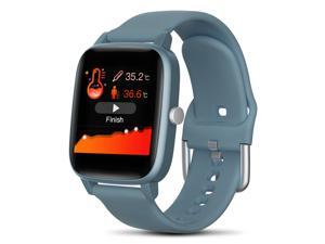 Smart Watch 1.4 Color Screen Temperature Measurement Heart Rate monitor Blood Pressure Fitness Tracker Sport smartwatch for Men Women Activity Tracker Smart Wristband for IOS Android