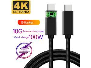 5A 100W Type-C Cable, 6.6ft USB Power Delivery (PD) Fast Charge USB C 3.1 Gen2, 10Gbps Data — Compatible with PD Docking Stations, Hard Drives, MacBook Pro, Air, iPad Pro, PixelBook, 4K/5K Displays