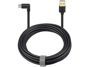 Oculus Quest Link Cable, USB A to USB C Cable 10FT / 3M, 90 Degree Angled High Speed Data Transfer & Fast Charging Cable Compatible for Oculus Quest and Gaming PC