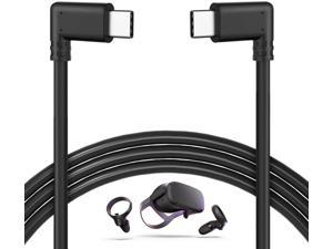 10Feet / 3M Oculus Quest Cable, USB C to USB Type C Cable 3A 90 Degree Type C Quick Charge Cable for Oculus Quest Link VR Quick Charge Cable for Phone Tablet Oculus Link Headset Cable (10ft)