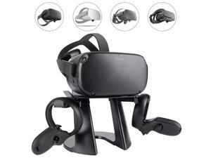 VR Stand, Headset Display Holder and Controller Holder Mount Station for Oculus Quest/Quest 2/Rift/Rift S/GO/HTC Vive/Vive Pro/Valve Index VR Headset and Touch Controllers