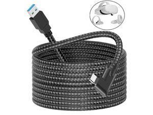 USB 3.0 USB A to USB 3.1 Type C VR Link Cable Nylon Braided16ft/5M, Compatible for Oculus Link Cable Compatible for Quest 2 and Quest to a Gaming PC, USB 3.2 Gen 1 5Gbps 3A…
