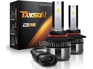 2PCS / One Pair Car LED Lights 9005/HB3 LED Headlight Bulbs Conversion Kit High/Low Beam, 60W 9600LM Super Bright CSP Chips - Cool White 6000K