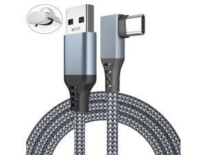 for Oculus Quest Link Cable, USB 3.0 USB A to USB C Cable 16FT / 5M, 90 Degree Angled High Speed Data Transfer & Fast Charging Cable Compatible for Oculus Quest and Oculus Quest 2 to Gaming PC (Gray)