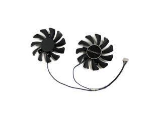 2pcs/set HD 7770/7750 GPU Cooler 4pin 75MM GA81O2U For Powercolor HD7750 HD7770 1G 2G Graphics Card Cooling As Replacement