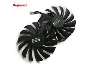 2pcs/lot computer radiator cooler GPU Cooling fans For MSI R9 380 390 390X GAMING video Graphics Card GPU