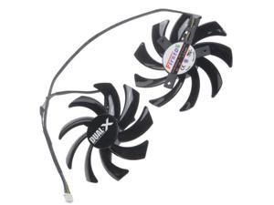 2 Pcs/Lot 85MM 4Pin Computer VGA Cooling Fan Cooler Graphics Card Fan for Sapphire R9-370X/270/280/280X/285 Video cards cooling