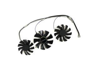 3pcs/lot R9 270X/370X video cards GPU cooler fan For Dataland Powercolor DEVIL R9 270X R9-370X Graphics Card As Replacement