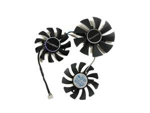 3pcs/Set DIY GA91O2H And GA81O2U R9 270X/370X GPU Cooler Fan For Dataland Powercolor DEVIL R9 270X R9-370X Graphics Card Cooling