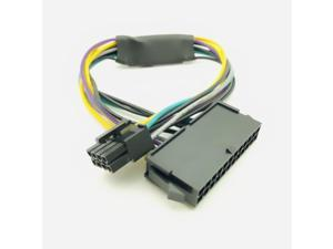 24 Pin to 8 Pin ATX PSU Power Adapter Cable Compatible with DELL Optiplex 3020 7020 9020 Precision T1700 12-inch(30cm) for Dell