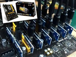 BIOSTAR TB250-BTC PRO Motherboards 12PCIE B250 LGA 1151 DDR4 ATX BTC Mining Motherboard (alternative H81 BTC PRO TB85 H81)