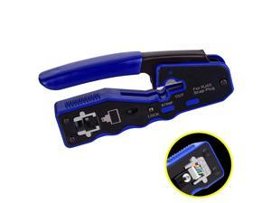 RJ45 Crimp Tool Pass Through Cutter Cat6 Cat5 Cat5e 8P8C Modular Connectors All-in-one Wire Network Tool Cable Crimper