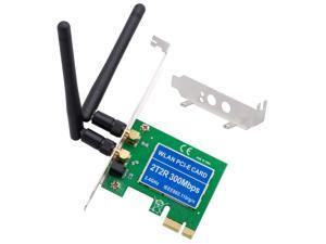 PCIe Wireless 300Mbps Internal PCIe WiFi Card PCI Express Network Card For PC Desktop 2.4 GHz Dual Antenna 2T2R PCI-e WLAN Card